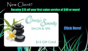 $15 Off of a $40 Service or More!